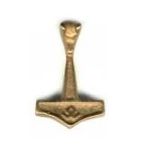 Hammer - mit Wolfskopf/Odal - Bronze